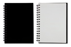 Black Blank Note Book