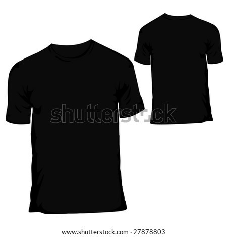 blank shirt template black. stock photo : lack blank