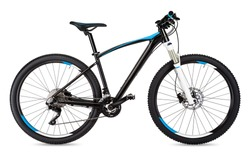 black blue mountain bike isolated on white background