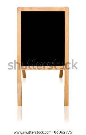 Black board isolated on the white background.