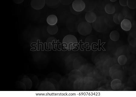 Black Bokeh, Abstract black bokeh background #690763423