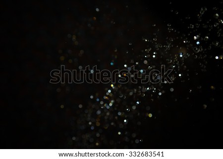 Black Bokeh water use for background - Shutterstock ID 332683541