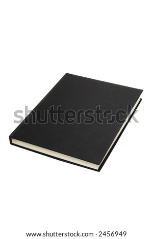 Black book isolated against a white background