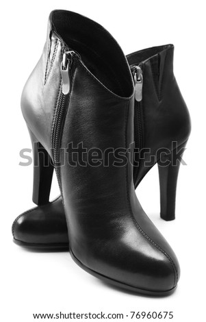Black boots - stock photo