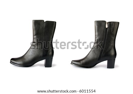 Black boots, isolated on white