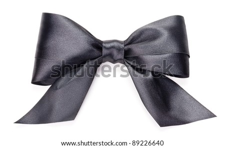 Black bow on white