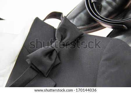 Black bow tie - stock photo