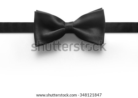 Black bow tie isolated on white background #348121847