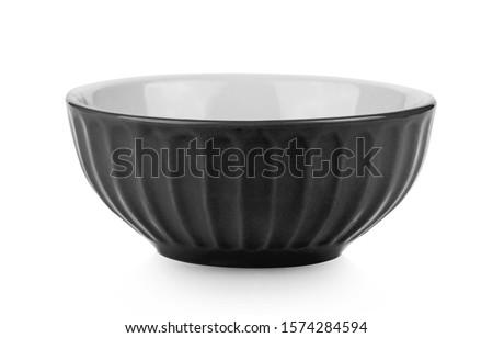 black bowl isolated on white background Stock photo ©