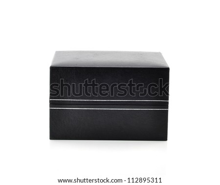 Black box isolated white background.