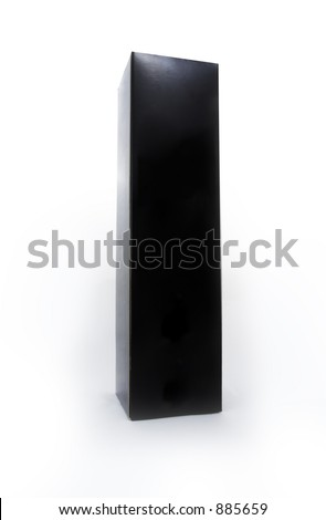 Black box with a white background.