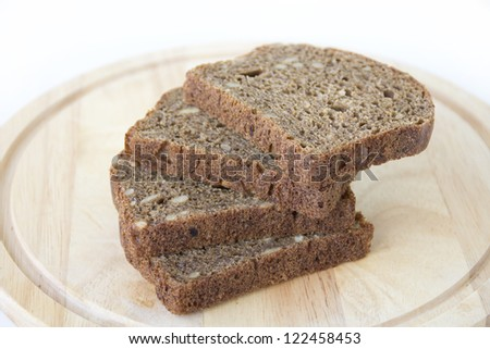 Black bread with sunflower seeds