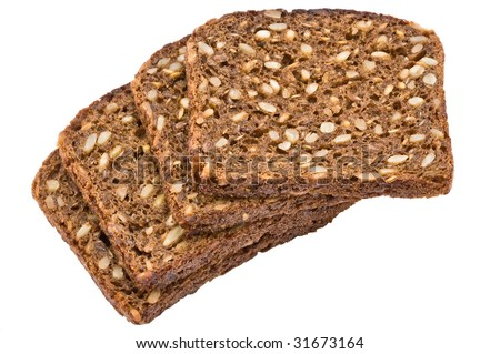 Black And White Sunflower Background. stock photo : Black bread with