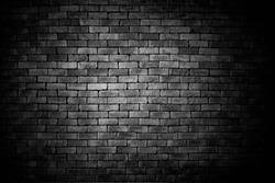 black brick wall, brickwork background