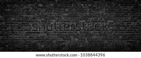 black brick wall, brickwork background for design