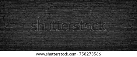 black brick wall, brickwork background for design