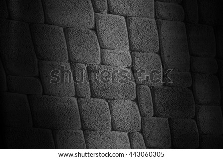 Black brick wall for background #443060305