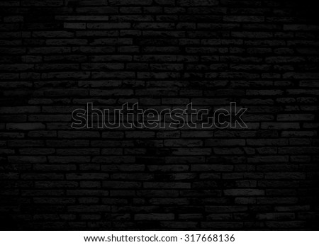 Black brick wall for background or texture - Shutterstock ID 317668136