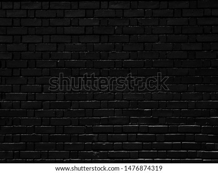 Black brick wall textured background, the old dark black brick wall background, brick, Black brick wall concrete background horizontal, architecture,wallpaper texture construction building #1476874319
