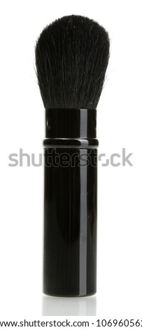 black brush for make-up isolated on white