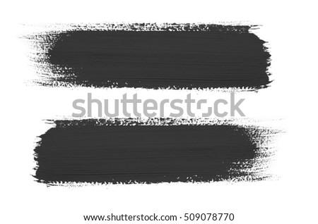 Black brush stroke isolated on background #509078770