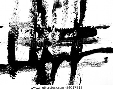 Black Brush Strokes 6