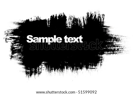 Black brush strokes with space for your own text
