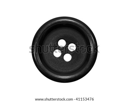 Black button isolated on white