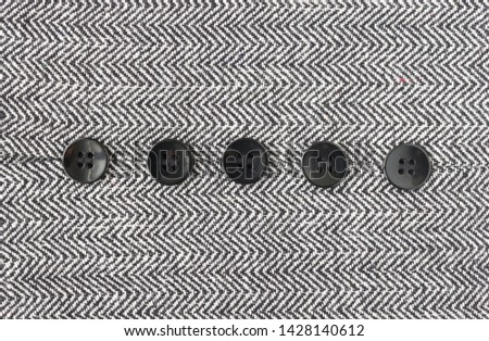 Black Button on Zig Zag Pattern or Triangle Pattern on Center Frame. 5 Button on Zig Zag Pattern or Triangle Pattern for apparel design #1428140612