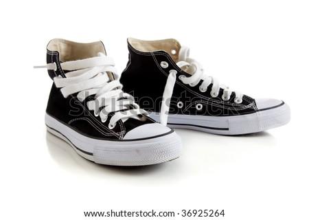 High Top Tennis Shoes Clip Art