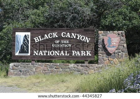 Black Canyon National Park Sign