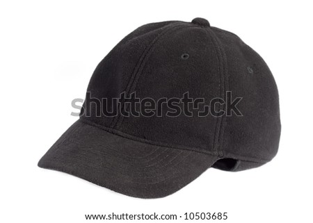 Black Cap - Isolated On White Background Stock Photo 10503685 ...