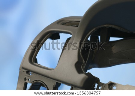 black car dashboard without dashboard #1356304757