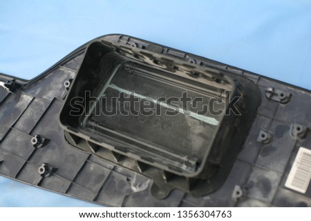 black car dashboard without dashboard #1356304763