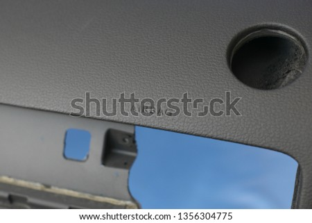 black car dashboard without dashboard #1356304775