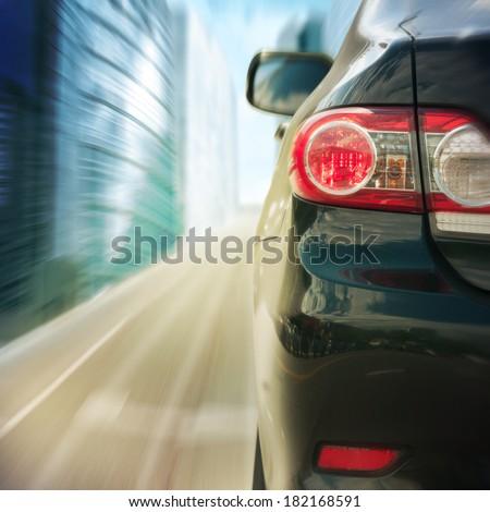 black car driving fast #182168591