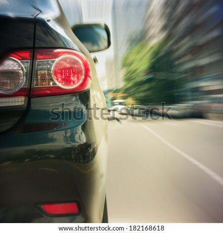 black car driving fast #182168618