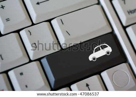 Black car key