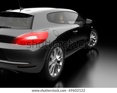 black car on black background