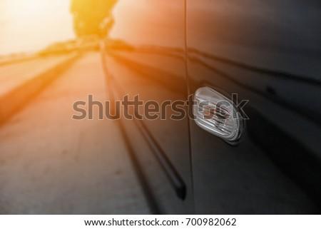 Black car side view
