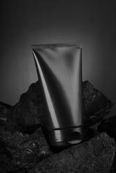 Black Carbon Charcoal Facewash for Mockup