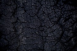 black carbon charcoal, old crack tire texture