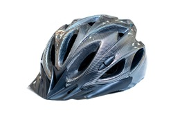 Black carbon pattern bicycle helmet