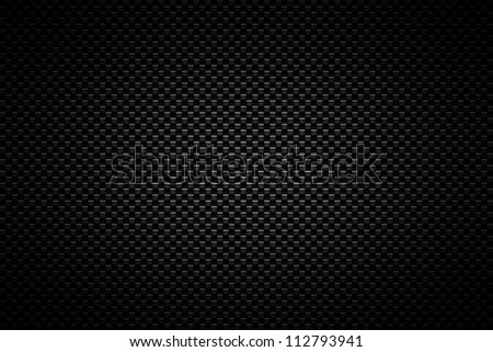 Black carbon shaded background. - stock photo