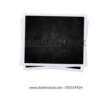 black card isolated. Photo frame #330319424