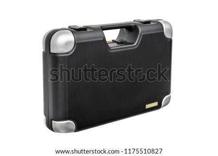 Black case for guns isolated for white background #1175510827