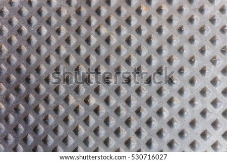 Black cast iron metal pattern as background