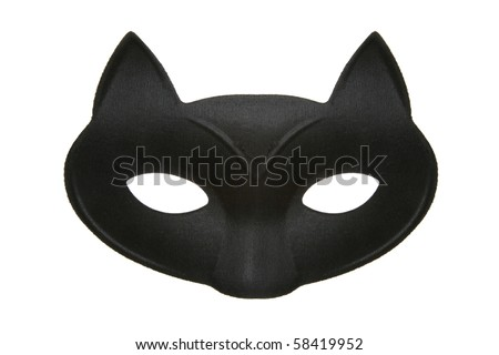 Black cat masquerade mask