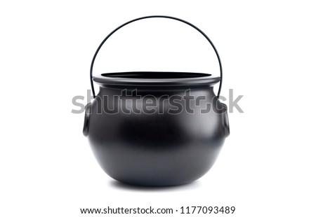 Black Cauldron For Witches on a White Background Stock photo ©