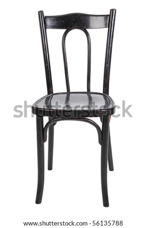 Black chair, isolated on a white background